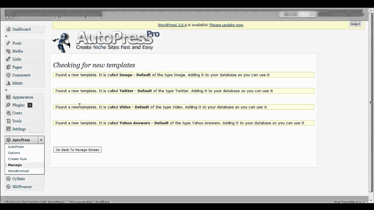 Autopress: a selection of articles
