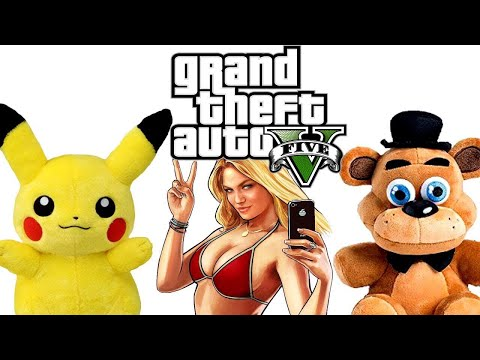 Pikachu And Freddy Play Grand Theft Auto V