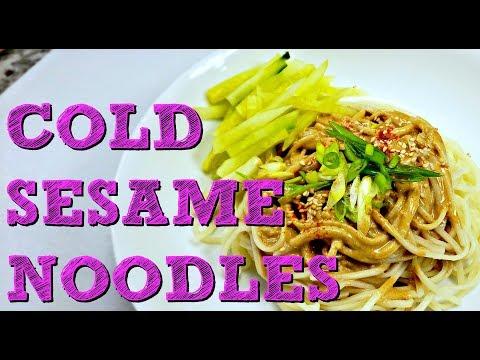 Cold Sesame Noodles Recipe   How To Make Sesame Noodles   Simply Mama Cooks