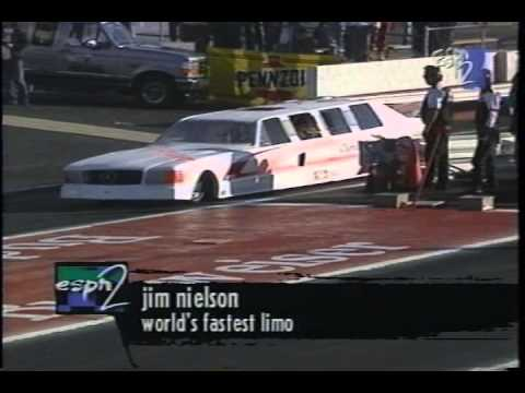 Jet Powered Mercedes Limousine Exhibition Drag Racing