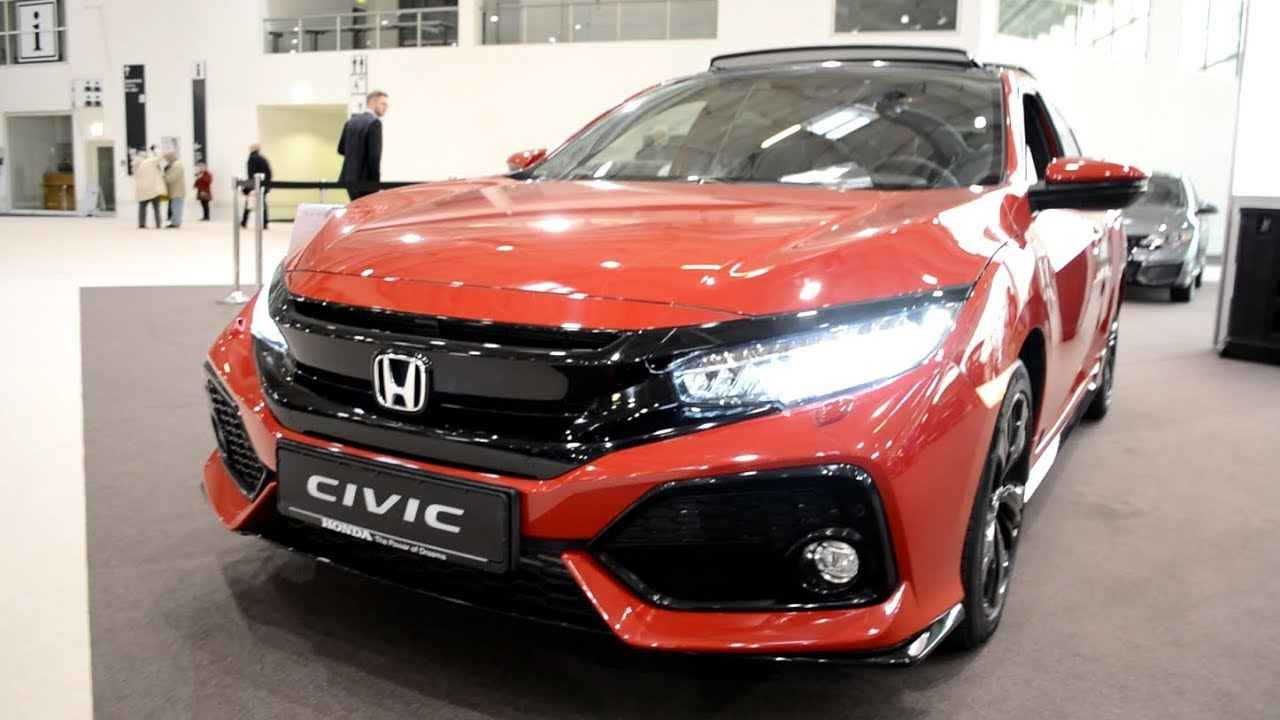 2017 new honda civic 1 5 vtec turbo sport plus exterior and interior youtube. Black Bedroom Furniture Sets. Home Design Ideas