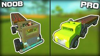 NOOB vs PRO Explosive Transport Challenge! (Scrap Mechanic Gameplay)