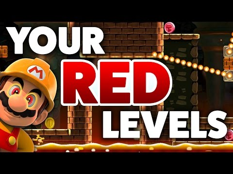 Super Mario Maker - RED LEVELS! - Creation Challenge [#1]