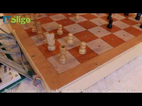Chessboard with Optical Position Detection