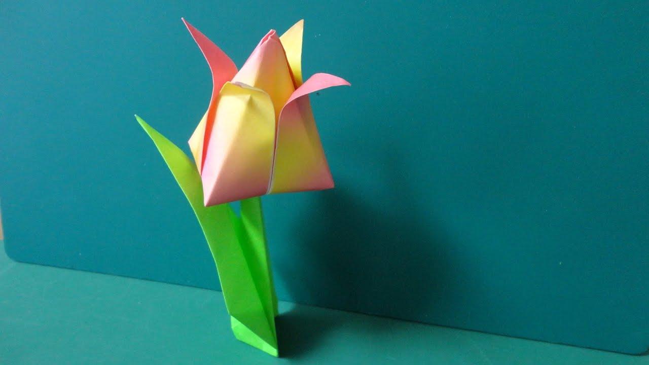 Origami Tulip YouTube : 折り紙 折り方 立体 : すべての折り紙