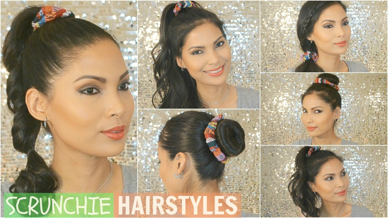 Scrunchie Hair Styles: 6 Easy Scrunchie Hairstyles