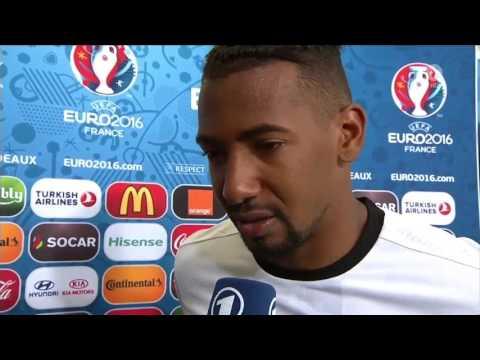 EURO2016 - Deutschland vs. Italien 02.07.2016 - Jerome Boateng im Interview nach dem Spiel