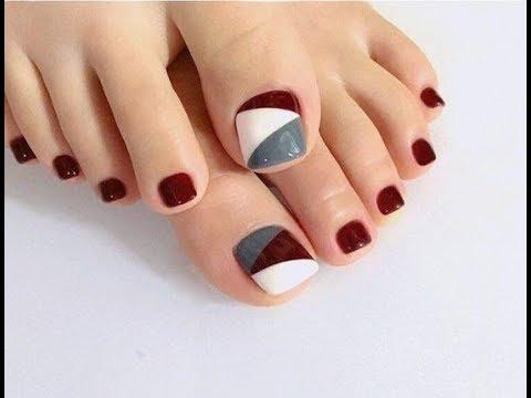 Những kiểu nail móng chân đơn giản mà đẹp