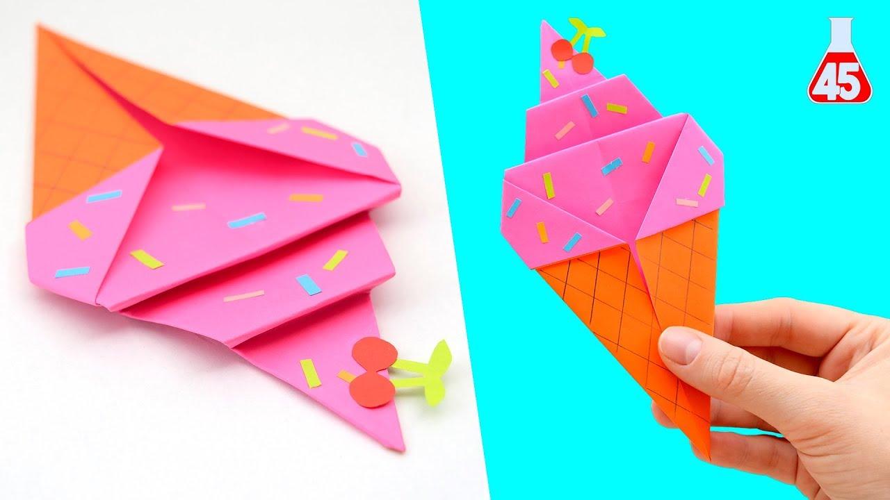 origami gelato decorazione
