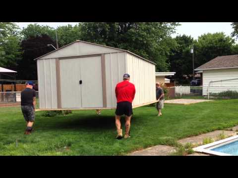 how to move a shed in 1 minute yt. Black Bedroom Furniture Sets. Home Design Ideas