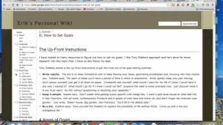 Personal Wiki Setup