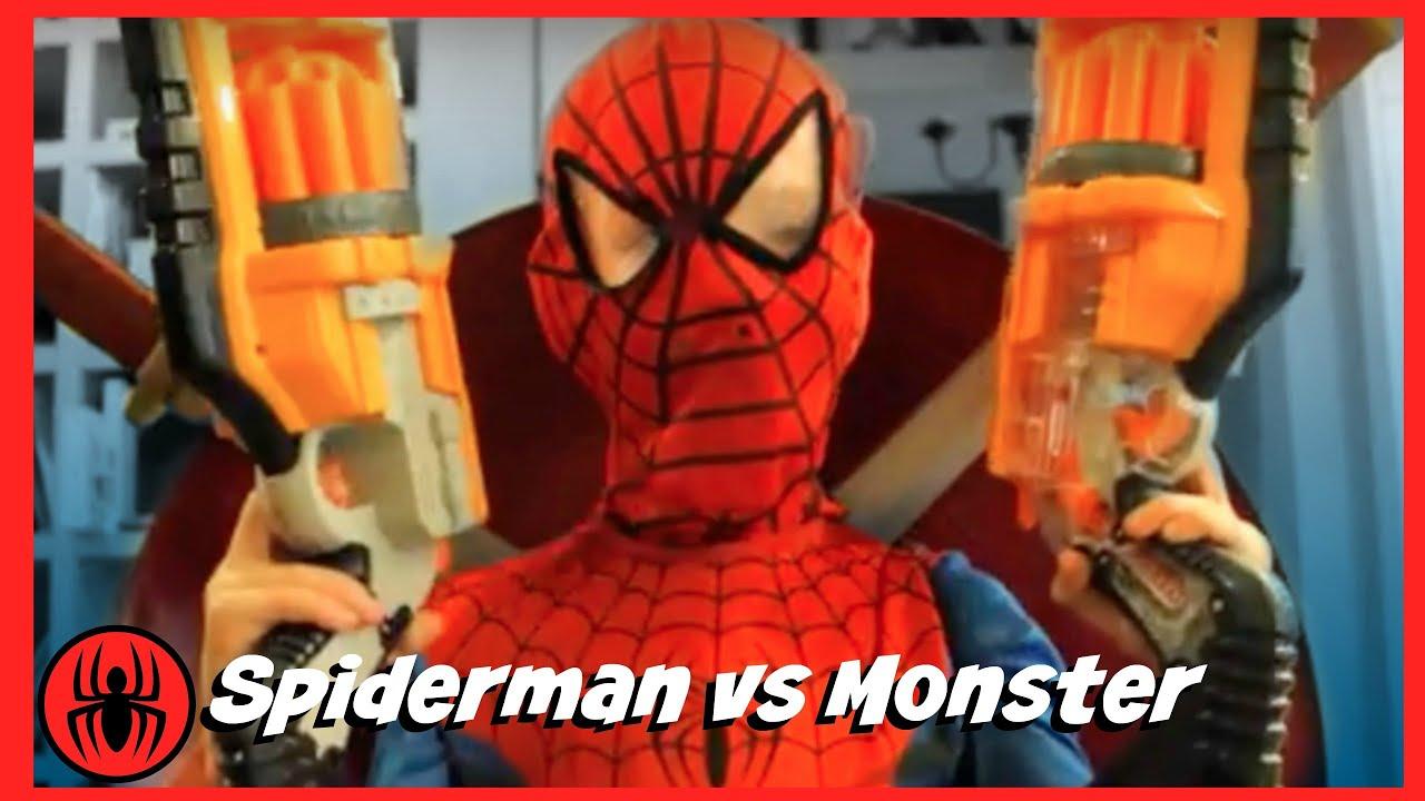 Spiderman Vs Monster W Pink Girlpool Superheroes Fun In
