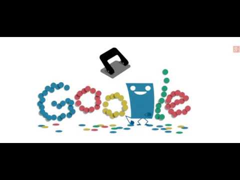 131st Anniversary of the Hole Puncher Google Doodle
