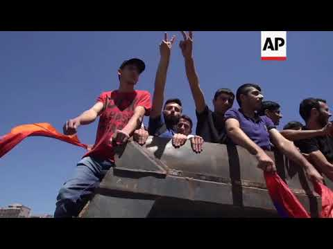 Pashinian Joins Protesters In Yerevan; Roads Blocked In Armenian Capital