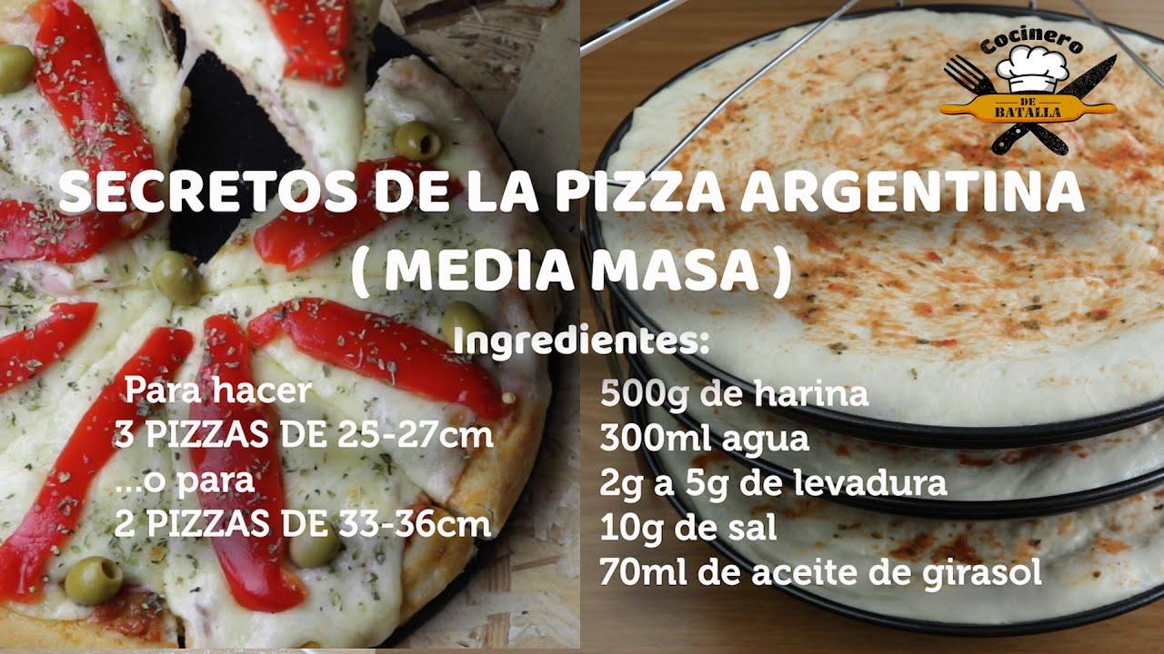 Pizza argentina casera_ La media masa
