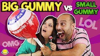 BIG GUMMY vs SMALL GUMMY 5!! Gominola Gigante vs Gominola pequeña 5!!!