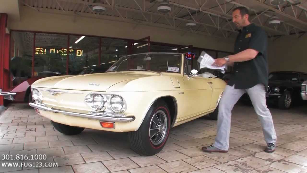 1965 Chevrolet Corvair Corsa Convertible For Sale With