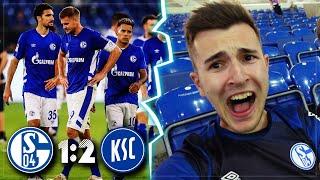 SCHALKE vs KARLSRUHE 1:2 Stadion Vlog 🔥 Was für ein Dreck!