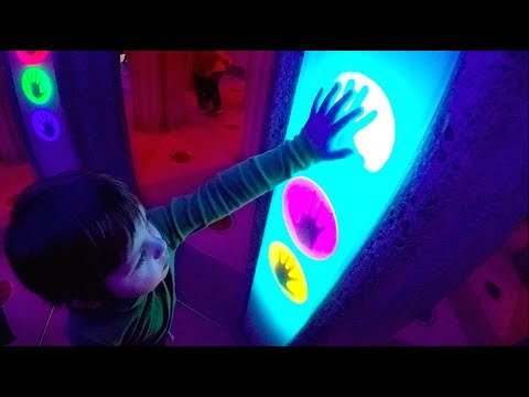 Magic Room with Colored Labyrinth | Kids Playing at Indoor Playground Park for Children
