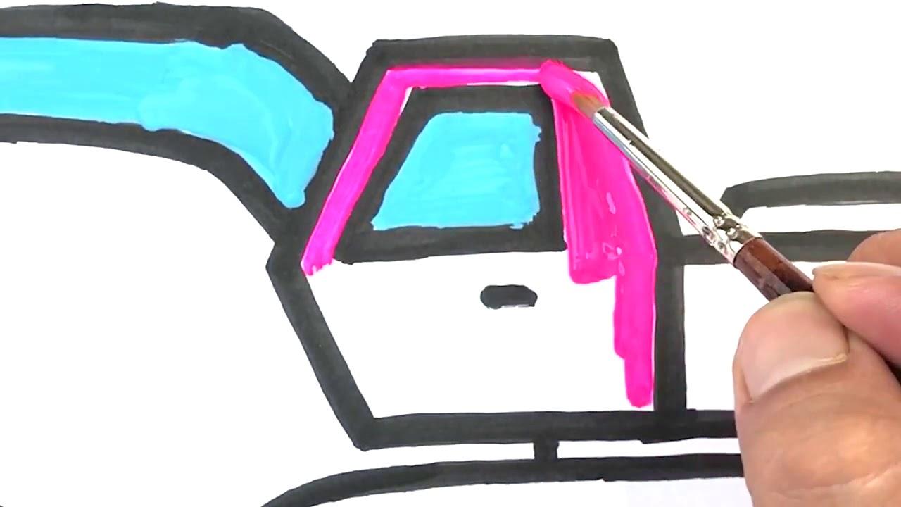 çocuklar Için Ekskavatör Boyama Ve çocuklar Için Ekskavatör çizimi Nasıl çizilir