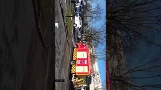 Accident camion de pompiers vs Dacia Sandero