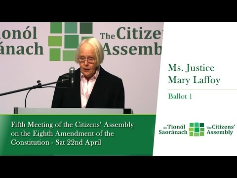 Ballot 1 Presentation & Voting Result:  Fifth Meeting of the Citizens' Assembly - 22 April 2017