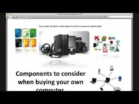 What hardware, software, network, and security components to consider when buying your computer