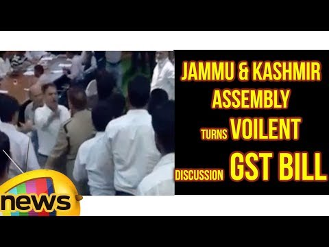 Jammu Kashmir Assembly Turns Voilent Over Discussion Of GST Bill | Mango News