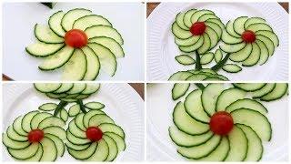 Fruit  & Vegetable Flower Plate Decoration - Super Salad Decoration Ideas