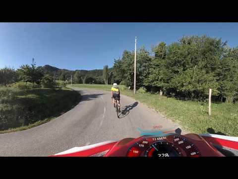 Climbing Col de Feu with Geneva Cyclists in 360º