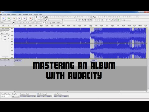 Audio Mastering an Album With Audacity | How To Make Your So