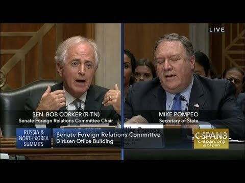 Sen. Corker Confronts Mike Pompeo - Why is Trump Questioning NATO
