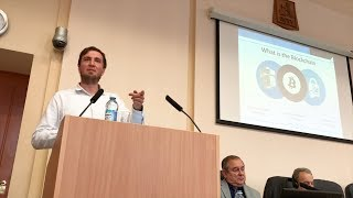 """Jeremias Grenzebach, Dentacoin at """"Digital Economy"""" Conference, Perm, Russia"""