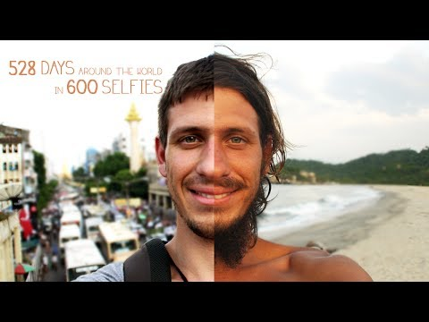 528 Days Around the World in 600 Selfies - Envie de Voyager