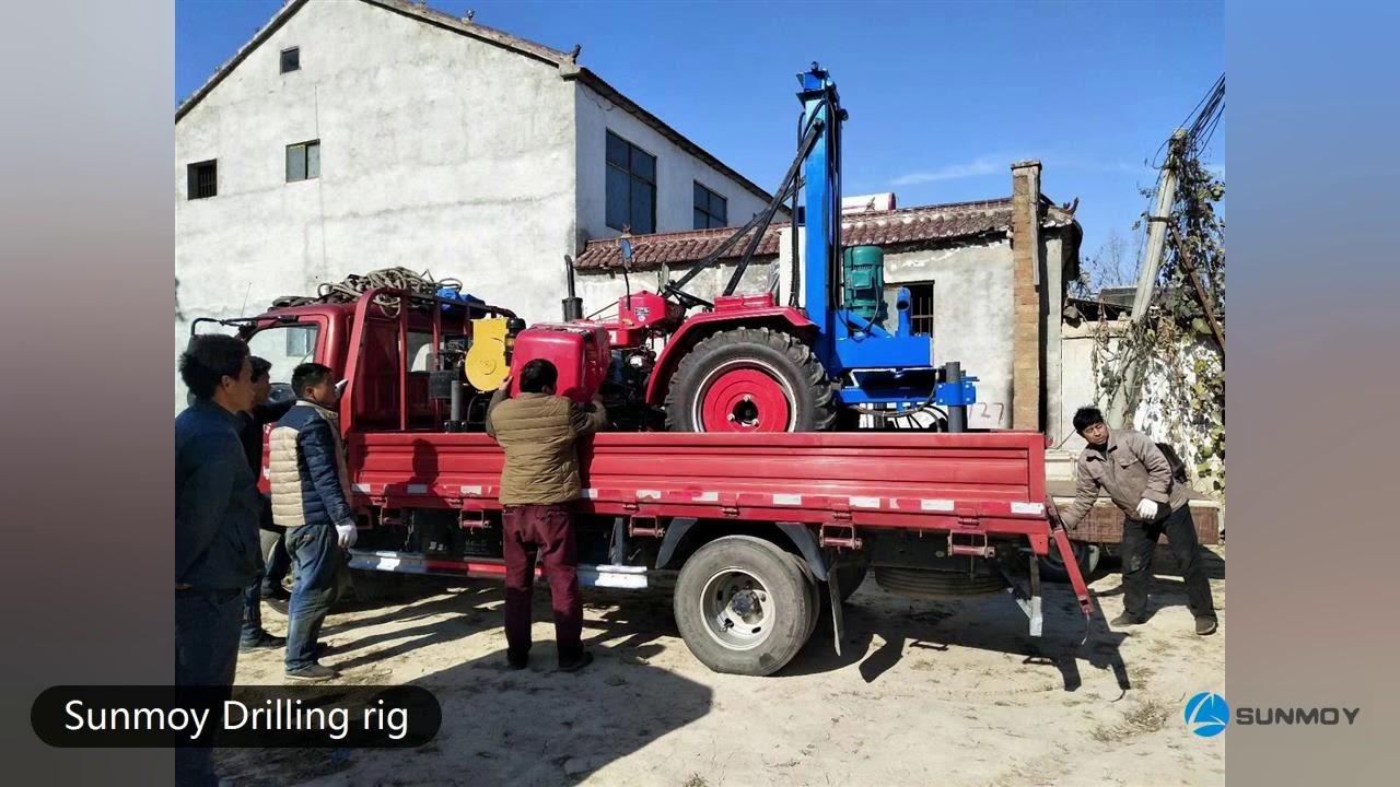 Small Water Well drilling rig, one person to operate