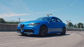 homepage tile video photo for Alfa Romeo Giulia Quadrifoglio at Lightning Lap 2019