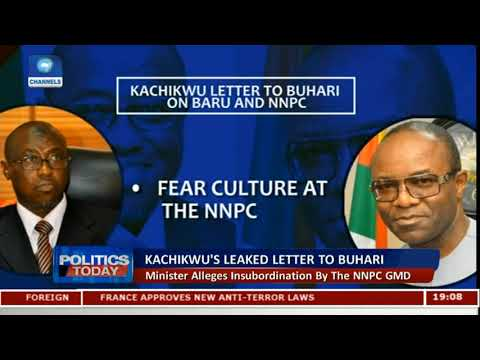 Kachukwu Letter To Buhari Alleges Insubordination By The NNPC GMD Pt.1 |Politics Today|