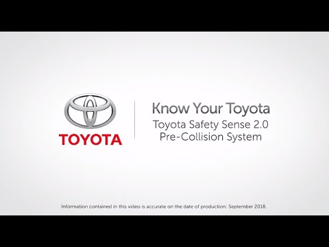 Know Your Toyota | Toyota Pre-Collision System With Pedestrian And Bicycle Detection
