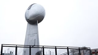 Giant Vince Lombardi trophy made in Duluth