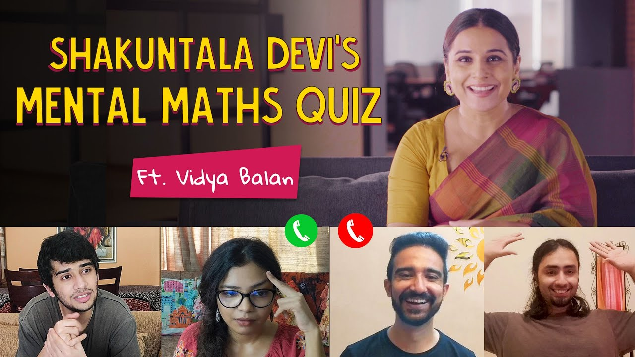 Shakuntala Devi's Mental Maths Quiz | Ft. Vidya Balan | Ok Tested