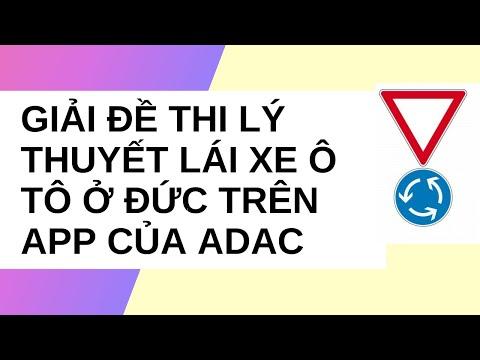 Hướng dẫn học lý thuyết lái xe ô tô ở Đức cho người kém tiếng Đức – Đề thi số 4 – App ADAC