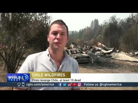 Ten reported dead after wildfires breakout in Chile