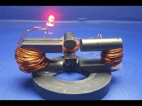 How to make magnetic generator free energy light