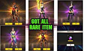 Got All New Rare Item || After Update || Live Reaction , Must Watch #FREEFIRE