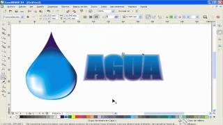 SPEED ART COREL DRAW: Gota de agua