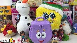Dora the Explorer's Backpack Surprise Eggs Tom and Jerry Spongebob Hello Kitty Ben 10