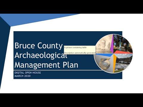 Bruce County Archaeological Management Plan (AMP)