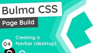Bulma Tutorial (Product Page Build) #4 - Navbar (desktop)