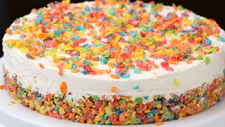 Rainbow Cereal Cheesecake