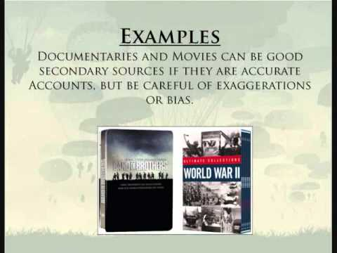 Primary Vs Secondary Sources Wwii And D Day Youtube